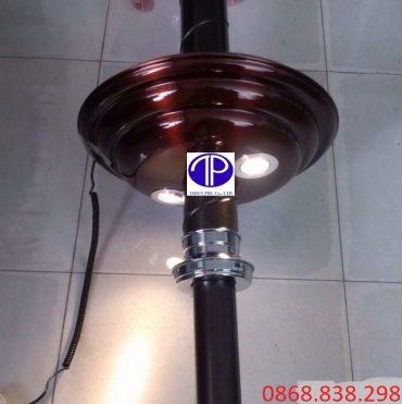 Chao đèn ống hút khói bếp nướng than hoa màu đồng