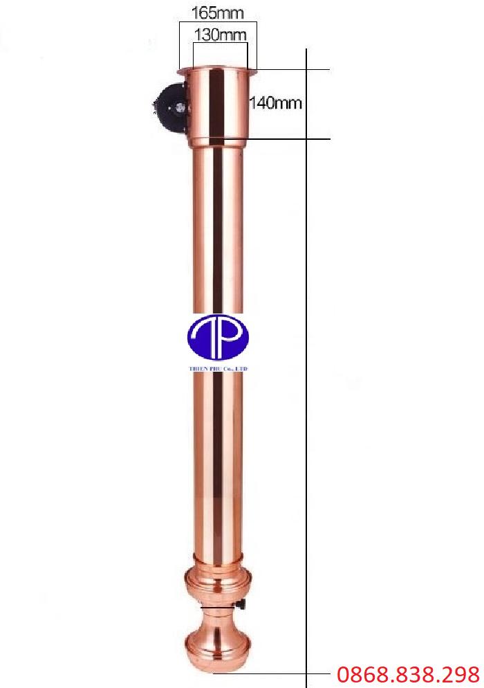 Kích thước ống hút khói bếp nướng màu đồng