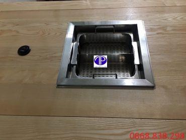 Bếp lẩu thang máy khi lắp trên bàn
