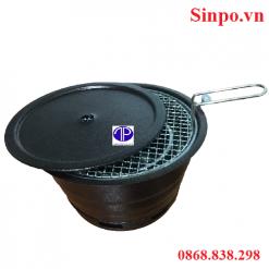Bếp nướng than hoa âm bàn vỏ sắt giá rẻ tại Hà Nội