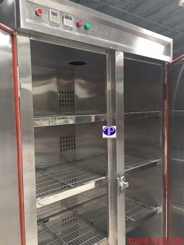 Mặt bên trong tủ sấy khau thức ăn inoxMặt bên trong tủ sấy khau thức ăn inox