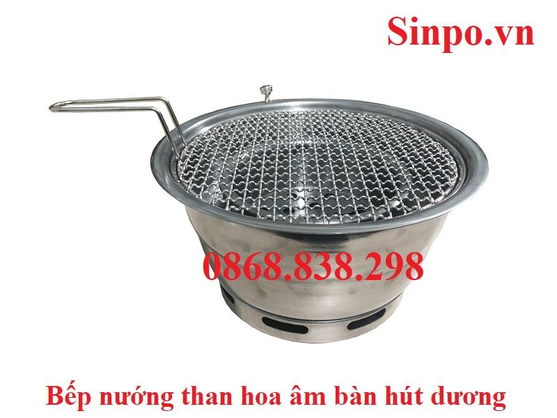 Giá bán bếp nướng than hoa âm bàn hút dương tại Hải Phòng
