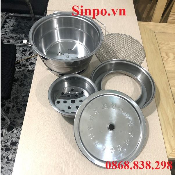 Cấu tạo bếp nướng than hoa âm bàn hút dương tại Hà Nội