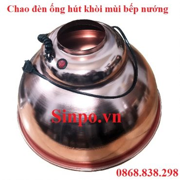 Mua chao đèn ống hút khói bếp nướng màu đồng giá rẻ tại TP HCM