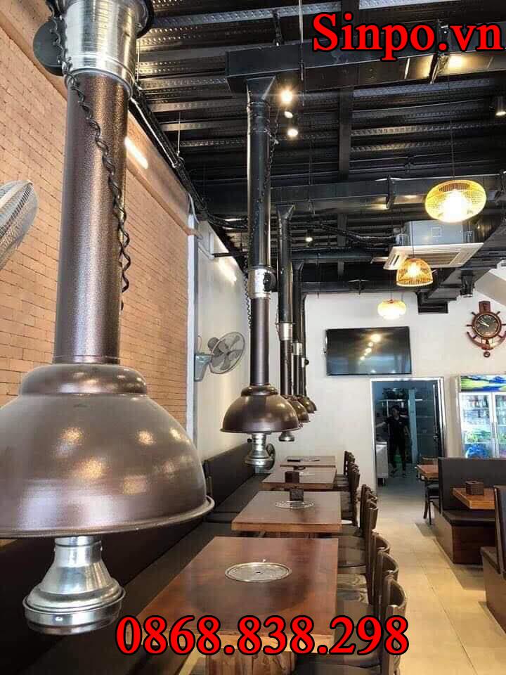 Chụp hút khói bếp nướng hút dương tại bàn tại Hà Nam