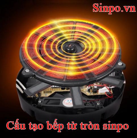 Cấu tạo bếp từ hình tròn sinpo