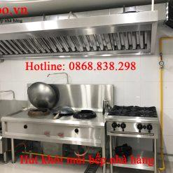 Thi công hệ thống hút khói bếp nấu ăn nhà hàng giá rẻ