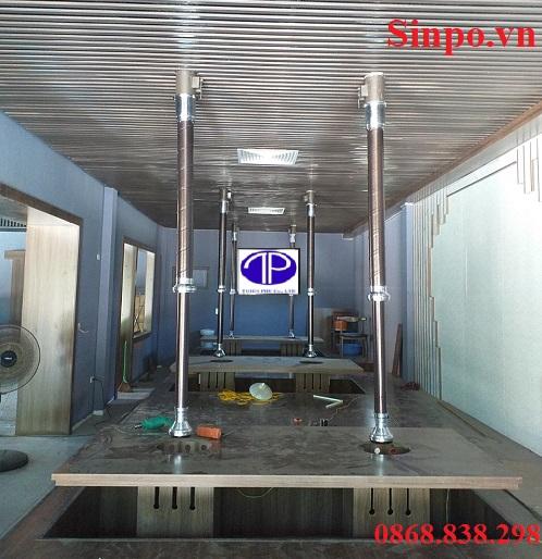 Thi công hệ thống hút khói bếp nướng tại Thái Bình