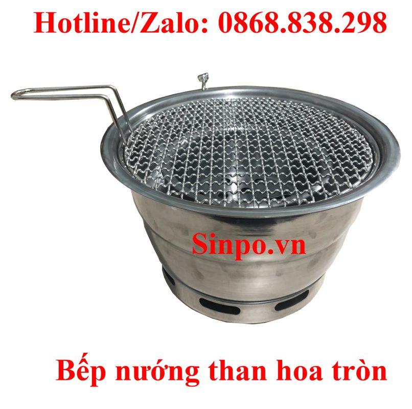 Bếp nướng than hoa tròn giá rẻ tại Hà Nội, Hải phòng, Đà Nẵng, TP HCM