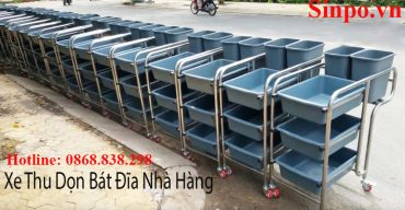 Xe thu dọn bát đĩa nhà hàng giá rẻ tại Hải Phòng
