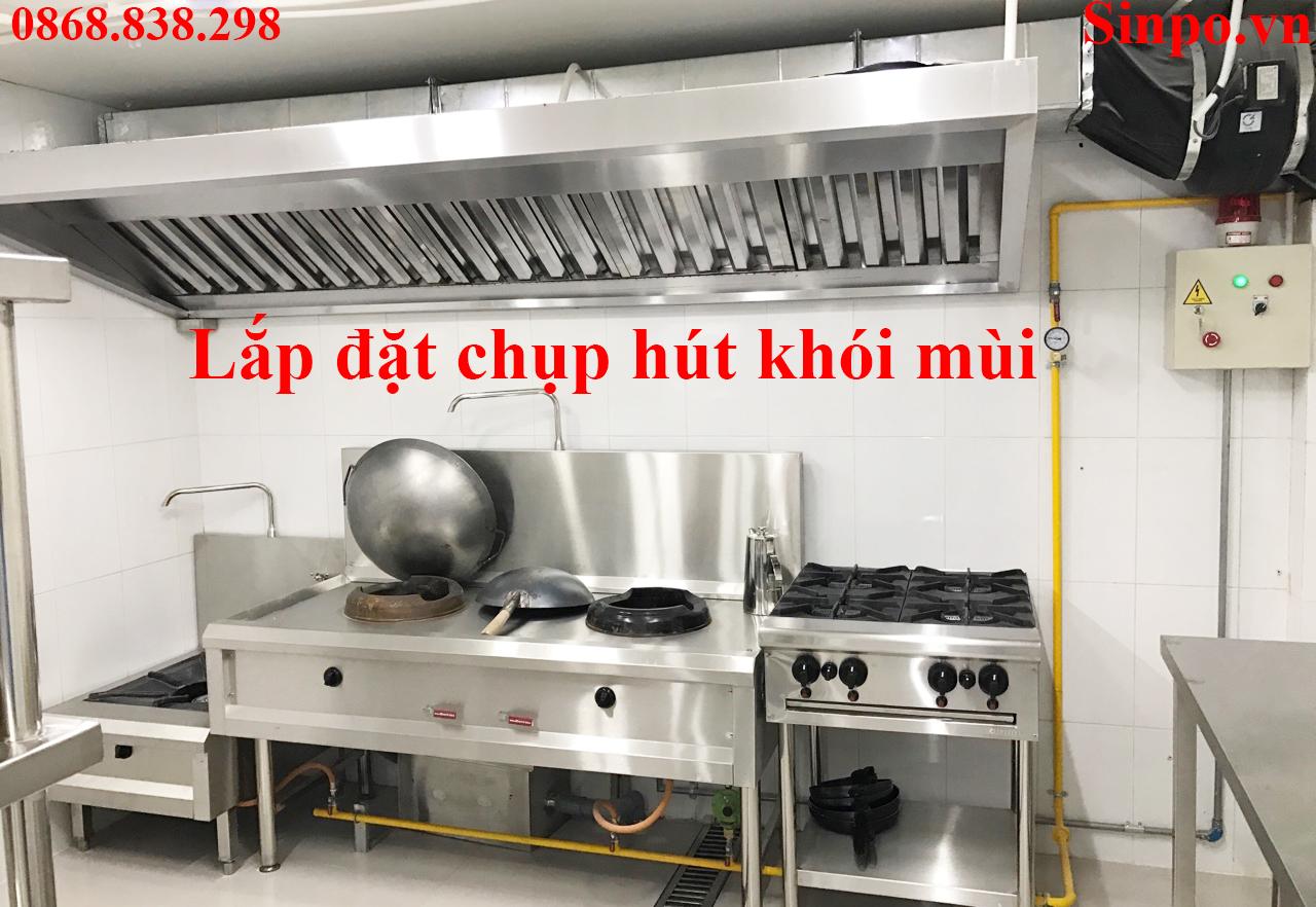 Lắp đặt chụp hút khói mùi bếp công nghiệp