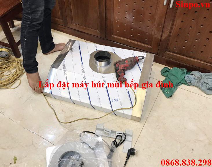 Lắp đặt máy hút mùi bếp gia đình