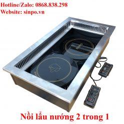 Nổi lẩu nướng 2 trong 1 giá rẻ tại Hà Nội