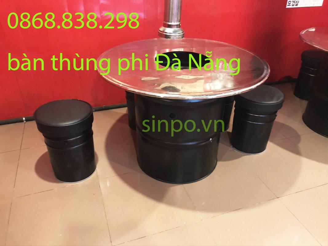 Bàn thùng phi lẩu nướng giá rẻ