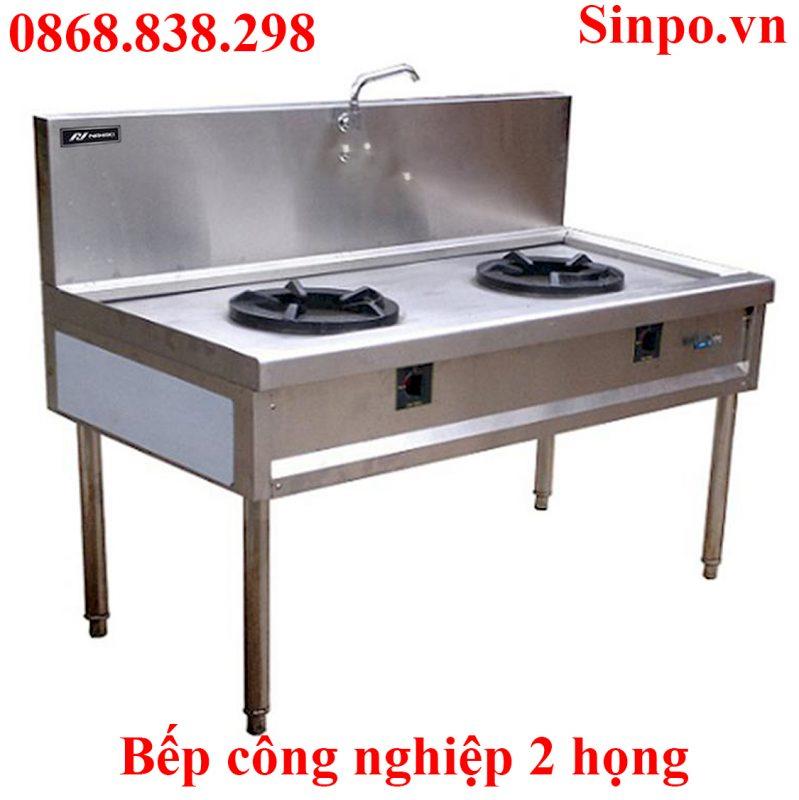 Bếp công nghiệp 2 họng giá rẻ tại Hà Nội HCM