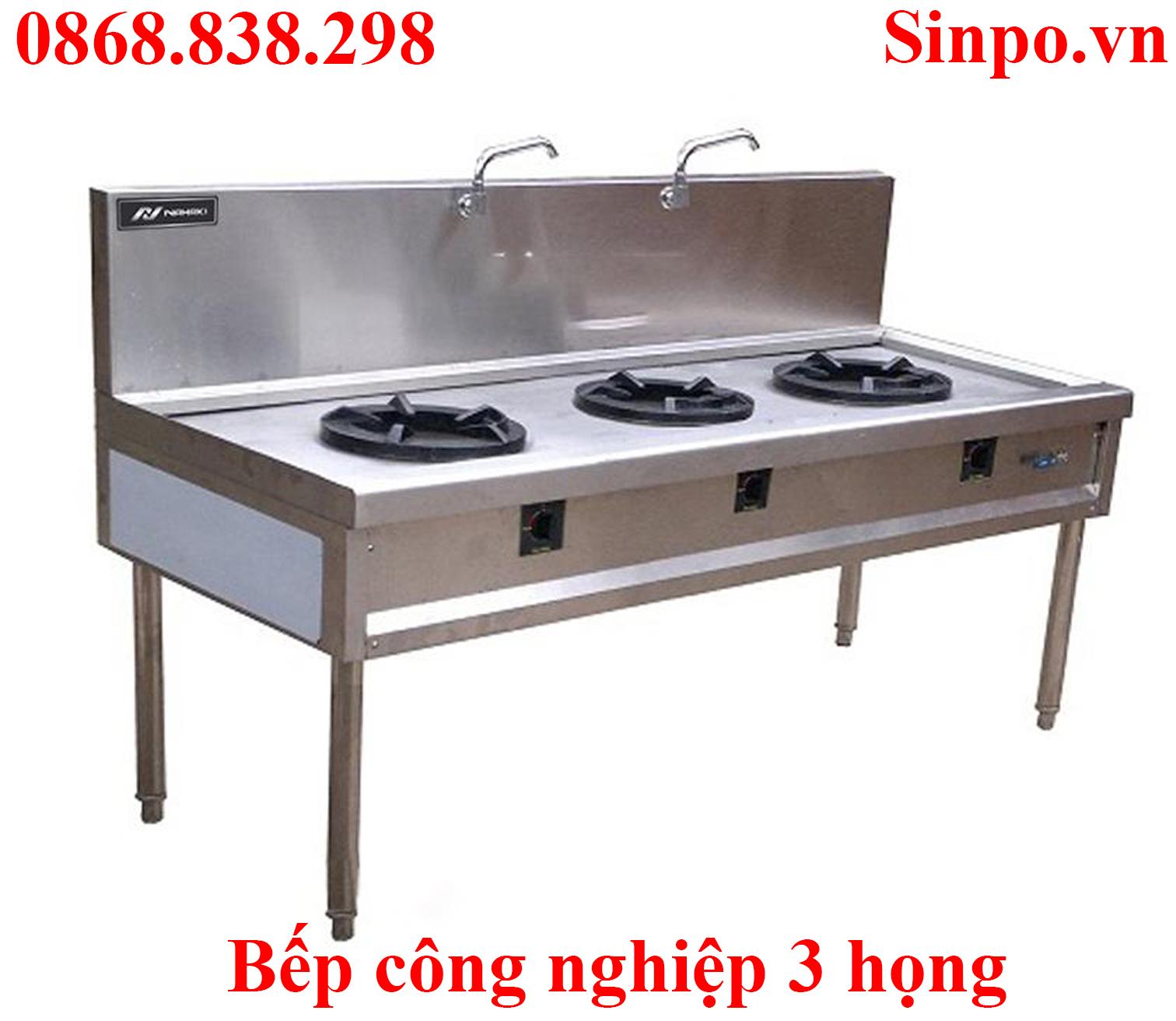 Bếp công nghiệp 3 họng nhà hàng tại Hà Nội