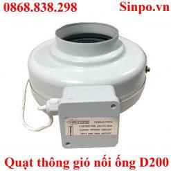 Quạt nối ống thống gió D200 tại Hà Nội