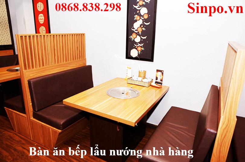 Địa chỉ mua bàn ăn bếp lẩu nướng nhà hàng tại Vĩnh Phúc