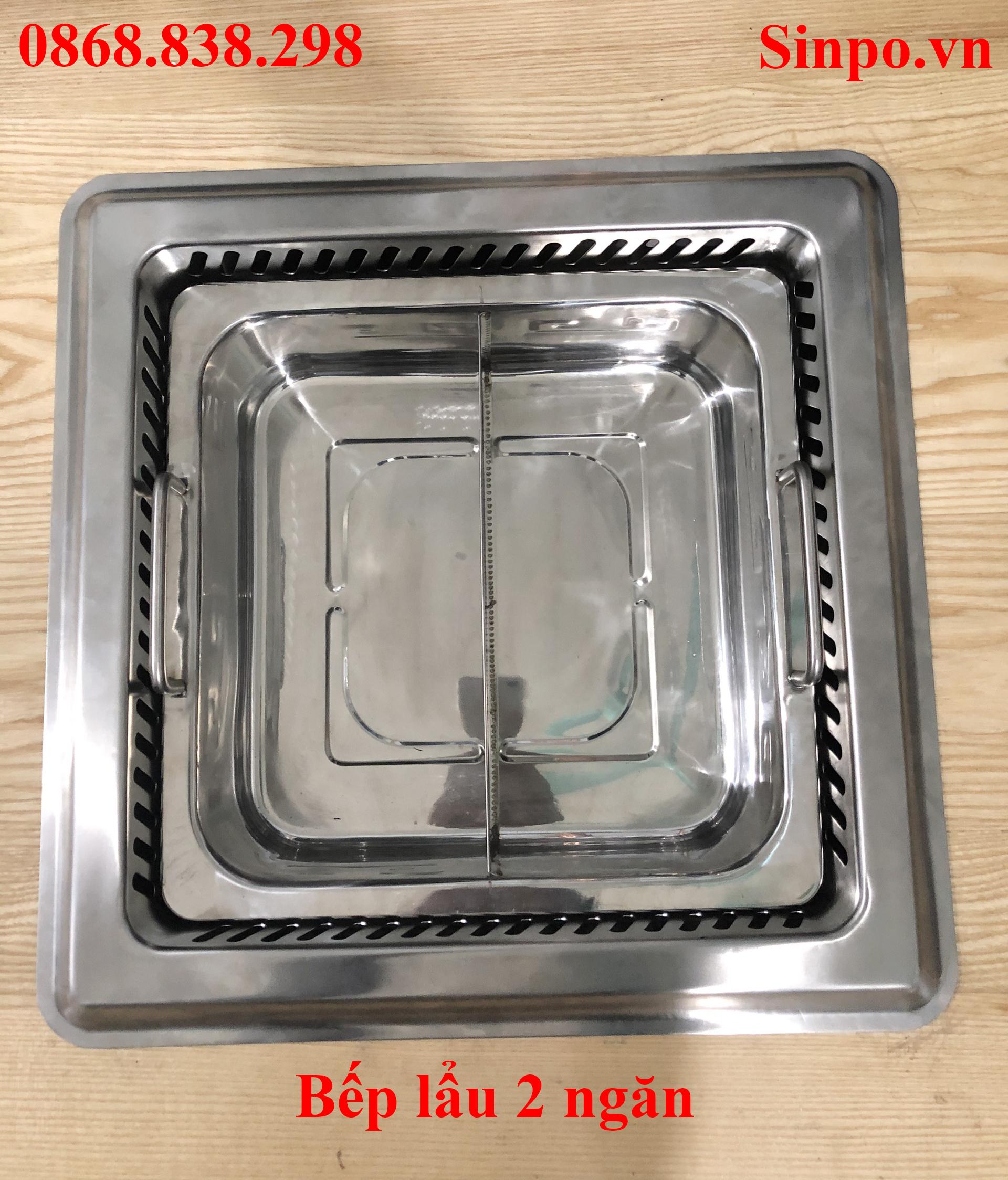 Bếp lẩu 2 ngăn âm bàn tại Hà Nội