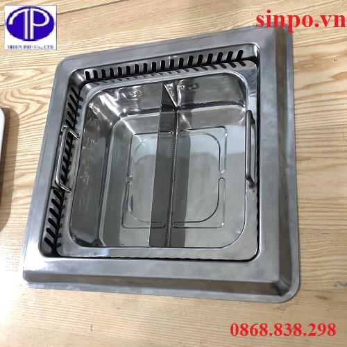 Bếp lẩu 2 ngăn âm bàn giá tốt
