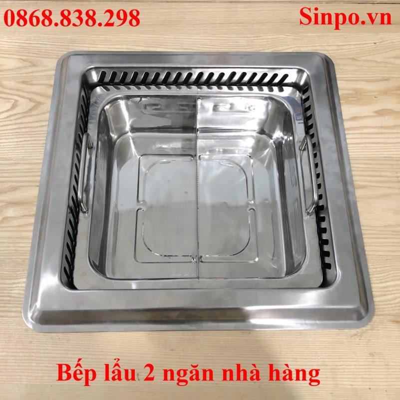 Địa chỉ bán bếp lẩu 2 ngăn tại Hà Nội giá rẻ