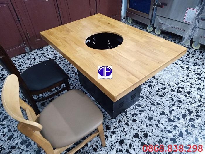 Cung cấp mặt bàn đặt lên hộp chân bàn bếp nướng nhà hàng