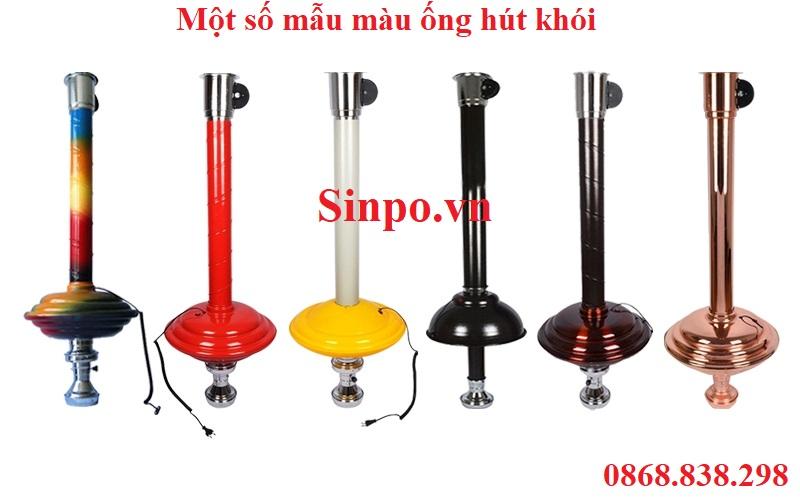 Giá bán ống hút khói bếp nướng tại bàn kèm chao đèn tại Hà Nội