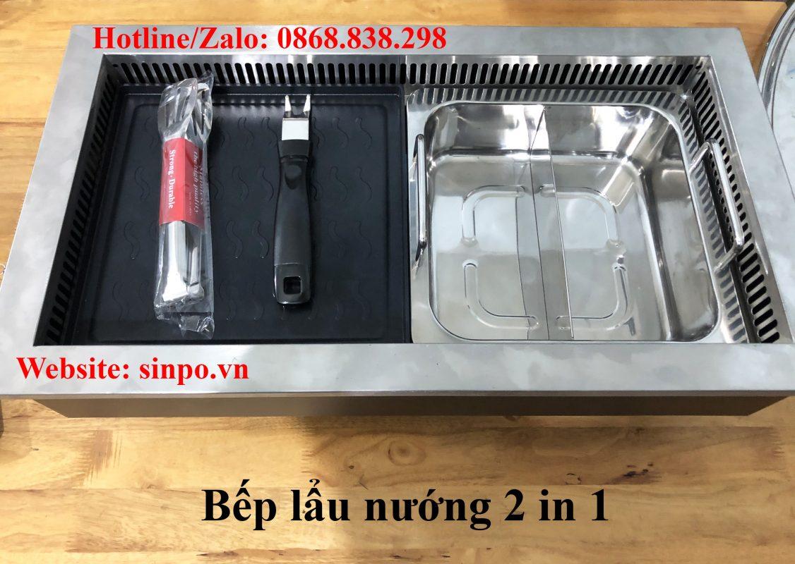 Giá bán bếp lẩu nướng 2 in 1 nhà hàng tại Hà Nội và Tp HCM