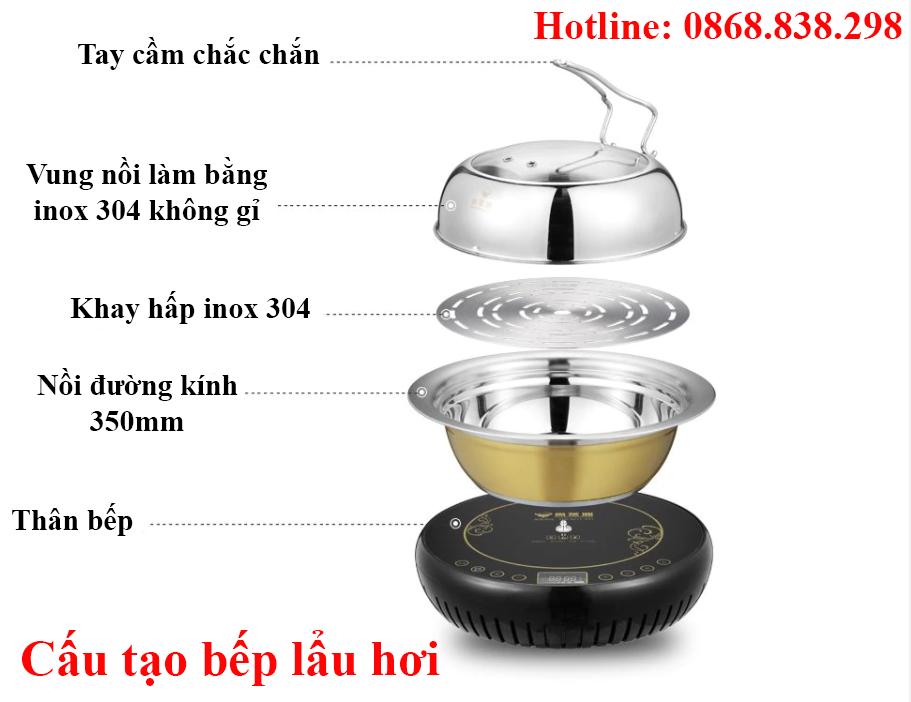 Cấu tạo bếp lẩu hơi gia đình nhà hàng giá rẻ tại Hà Nội