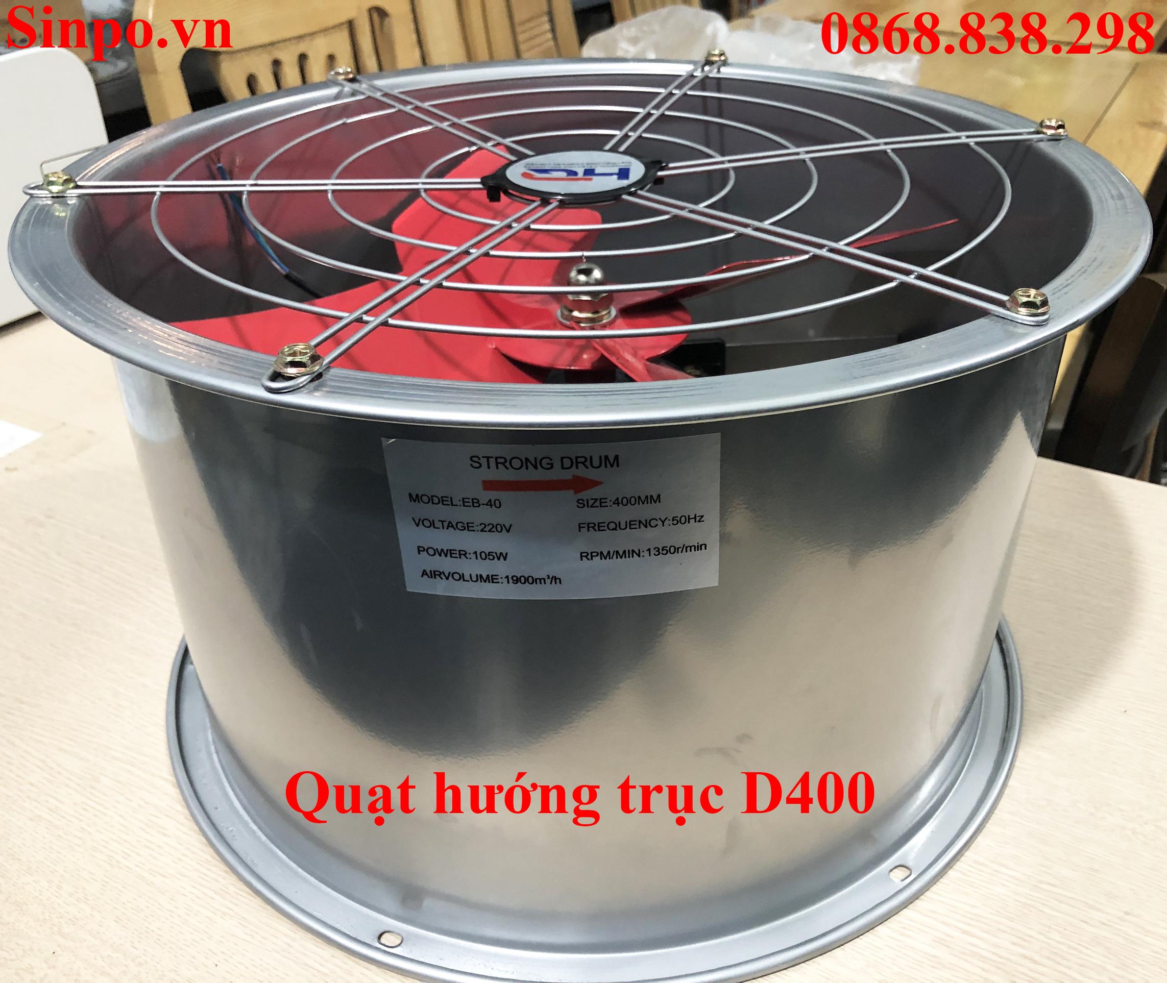 Địa chỉ mua quạt hướng trục D400 tại Hà Nội